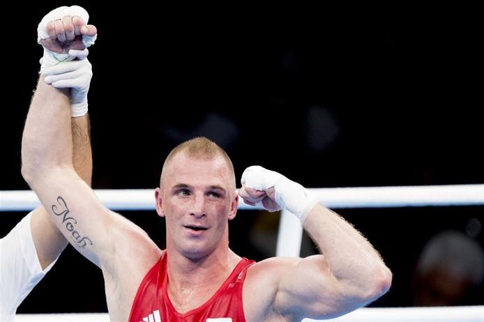 Peter Müllenberg in de ring tijdens de Olympische Spelen van Rio.