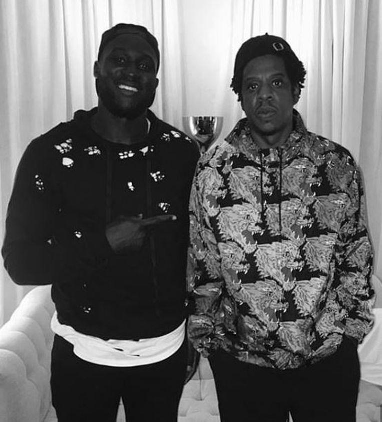 Romelu Lukaku met Jay-Z.