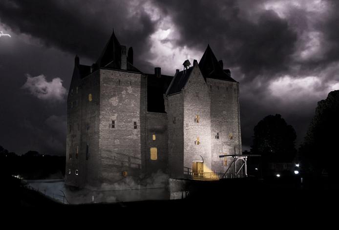 In de duistere vertrekken van Loevestein moeten bezoekers zo snel mogelijk puzzels oplossen om te ontsnappen uit de cel.