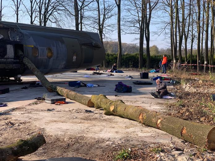 Grote rampoefening op Vliegbasis Eindhoven.