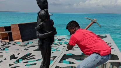 """Overheid Malediven laat kunstwerk afbreken omdat het """"islamitische eenheid bedreigt"""""""