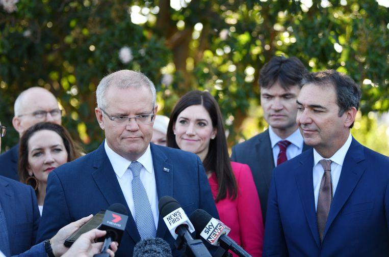 De Australische premier Scott Morrison. Beeld EPA