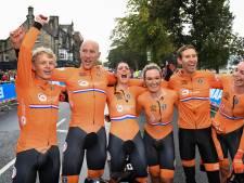 Achterhoeker Koen Bouwman pakt goud bij WK wielrennen met mixed team relay
