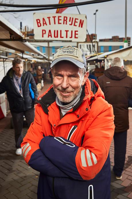 Markante koopman Batterijen Paultje al 30 jaar op de Centrummarkt