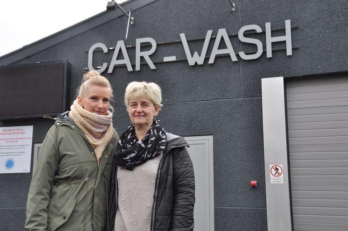 Wendy Busschaert en Hilda Fewan van Carwash De Rotonde in Avelgem.