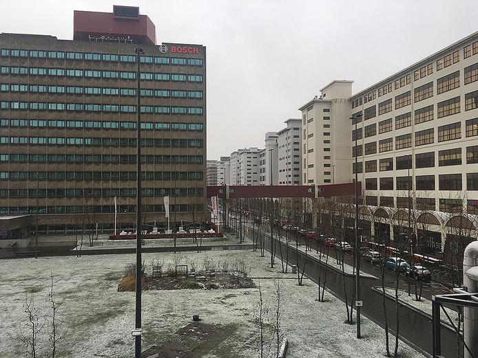 Lichte sneeuw in Eindhoven