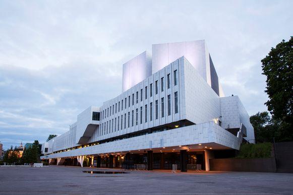 Finlandia Hal, ontworpen door Alvar Aalto.