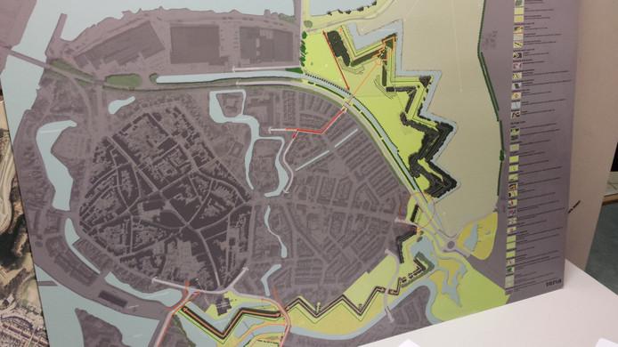 Plattegrond van de Linies in Doesburg.