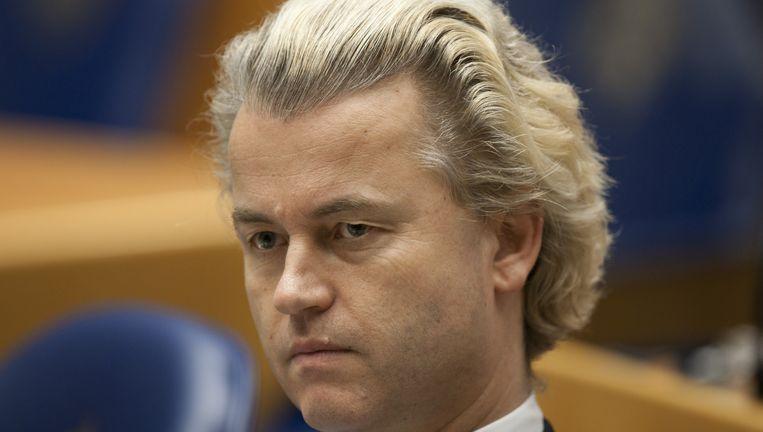 Fractievoorzitter van de PVV Geert Wilders Beeld anp