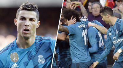 Twee strafschopgoals, natrappen, winnen en vunzig vieren: 'scarface' Ronaldo zuigt de aandacht naar zich toe op Mestalla
