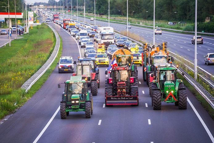 Boeren blokkeren A2