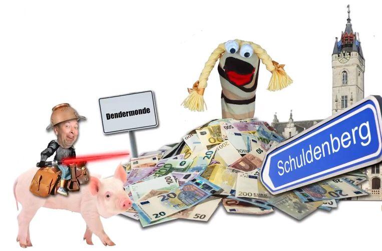 Het filmpje van Dirk Abbeloos richt zich vooral op de schulden van de stad.