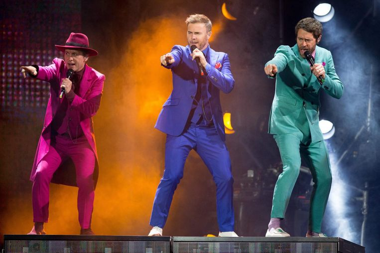 Mark Owen, Gary Barlow en Howard Donald van Take That.