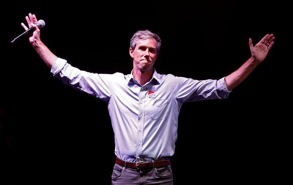 Beto O'Rourke werd nipt verslagen door Ted Cruz in Texas.