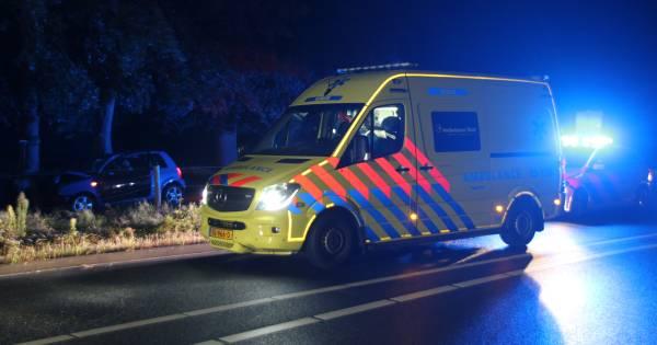 Twee jonge mannen gewond door botsing tegen boom in Hellendoorn.
