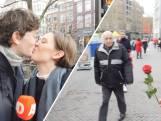 Een roos op Valentijnsdag: 'Ik houd van je'