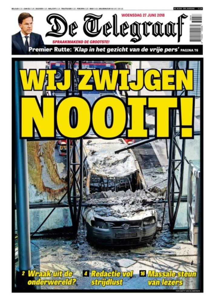 De Telegraaf een dag na de aanslag.