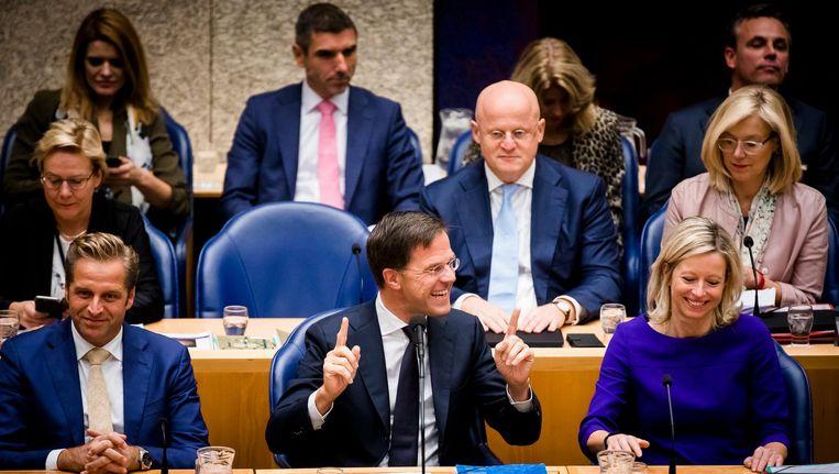 Rutte luistert naar PVV-leider Wilders Beeld ANP
