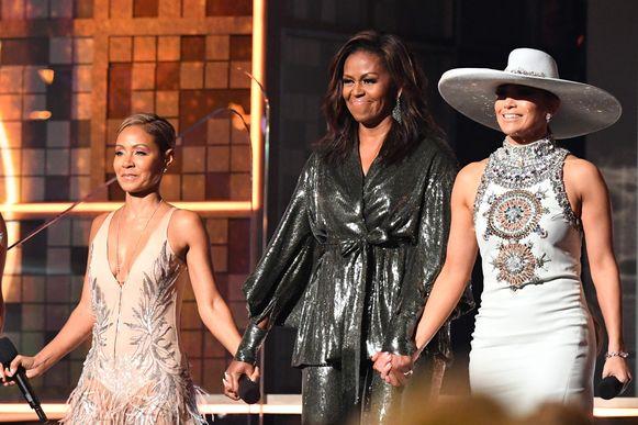 Jada Pinkett Smith, de voormalige first lady Michelle Obama en de Amerikaanse zangeres Jennifer Lopez