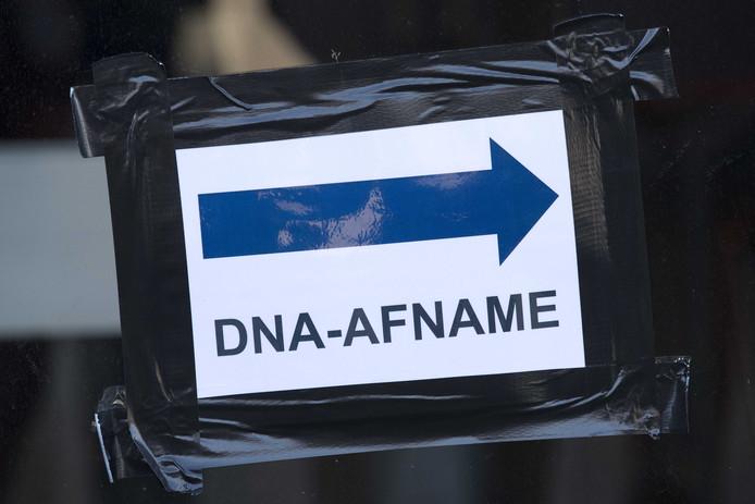 Afnamelocatie voor dna in het onderzoek rondom de moord op Nicky Verstappen.