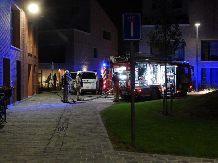 Brand in de Josef Bogaertstraat.