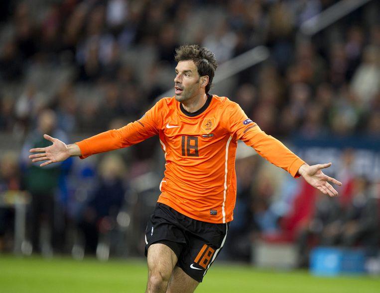 Ruud van Nistelrooij als spits van Oranje. Beeld anp