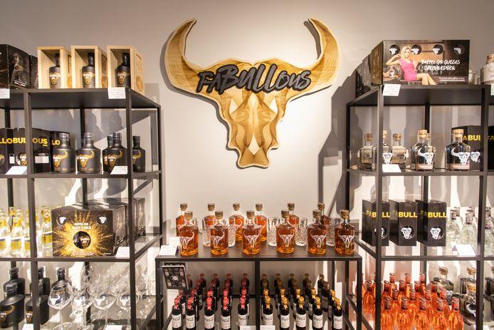 Ook drankenlabel Fabullous krijgt een mooie muur aan producten in de winkel.