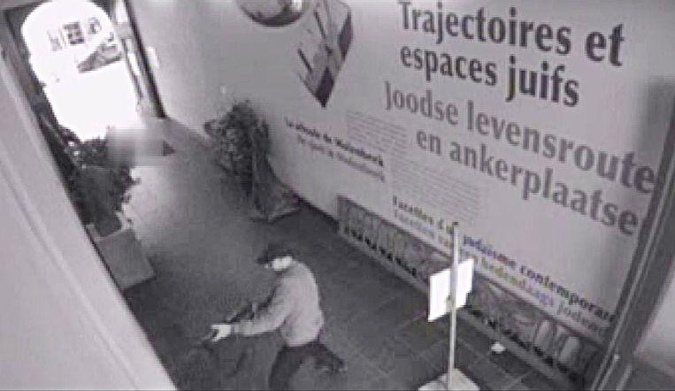 Beelden van schietpartij bij Joods Museum in Brussel. Beeld anp