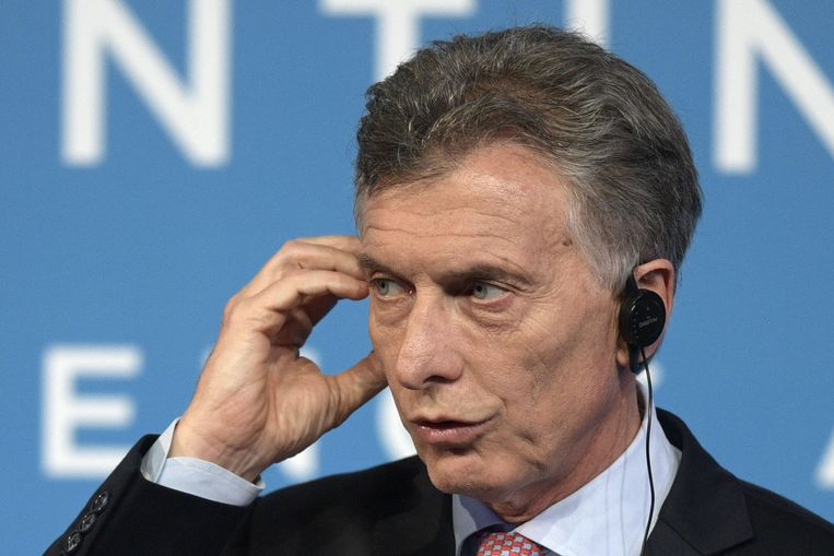 De Argentijnse voormalige president Mauricio Macri  Beeld AFP
