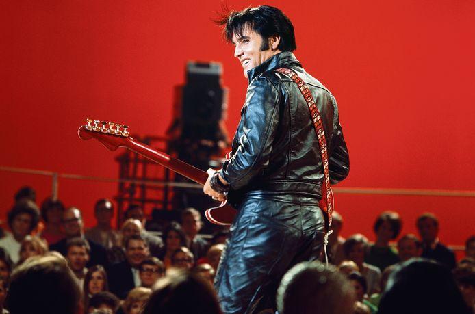 Elvis Presley tijdens zijn '68 Comeback Special op NBC