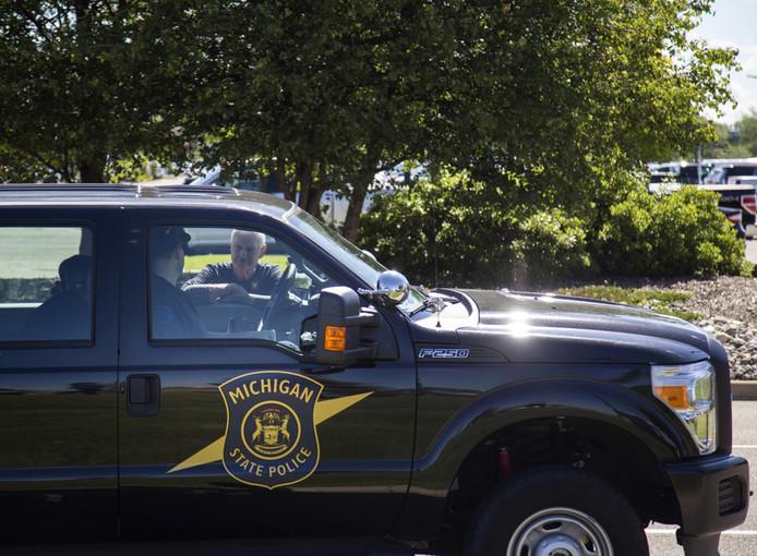 Foto ter illustratie. Een voertuig van de staatspolitie van Michigan.
