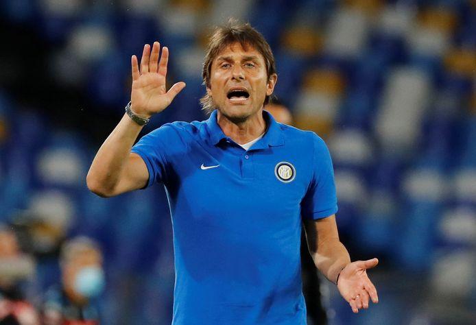 Conte het voorbije weekend in de return van de halve finales van de Coppa Italia tegen Napoli.