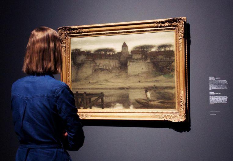 Matthijs Maris (1839-1917) staat bekend om zijn sprookjesachtige figuren, wonderlijke landschappen en mysterieuze scènes. Beeld Kelly Schenk