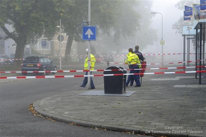 Afzetting in de Fazantstraat in Enschede