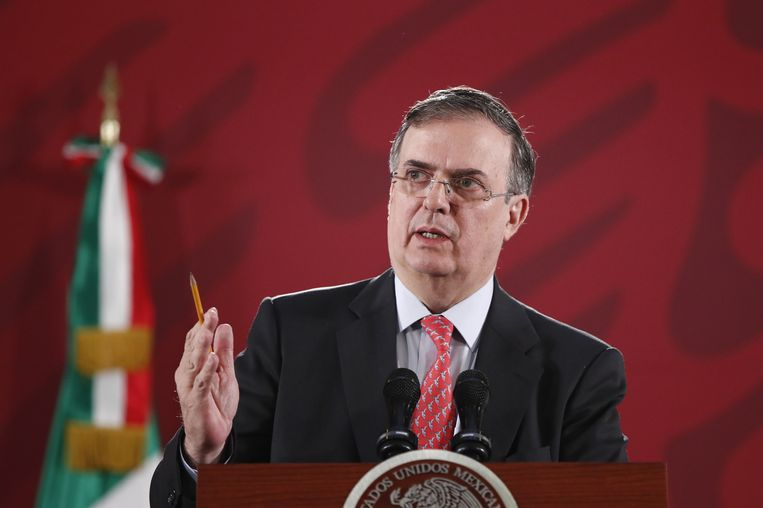 De Mexicaanse minister Marcelo Ebrard.  Beeld EPA