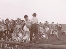 WEERZIEN: jongens op een balk in Haren?