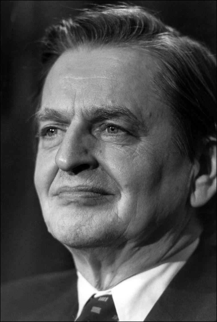 Olaf Palme, de sociaal-democratische premier van Zweden die in 1986 werd doodgeschoten Beeld afp