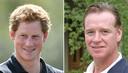 James Hewitt (r) geeft toe dat er wel enkele vergelijkingen zijn tussen hem en Harry, maar in 2003 ontkende hij dat hij de vader zou zijn van de prins.