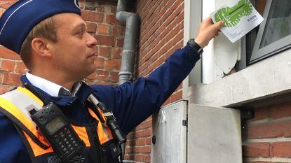 Politie laat 'voetafdruk' achter en doet 'belletjetrek'