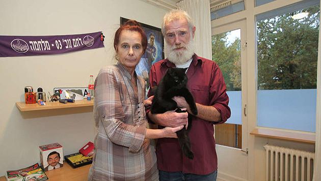 Bob en Yvonne Cohen, de opa en oma van Barak (inzet).