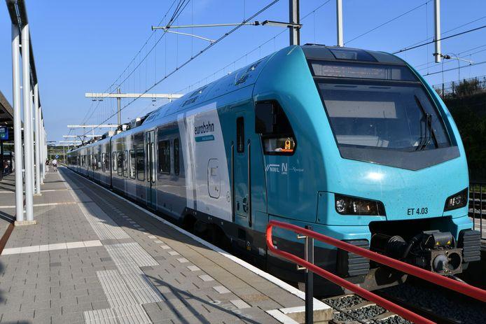 De Eurobahn-trein reed woensdagmiddag voor de verandering eens wel in Oldenzaal.
