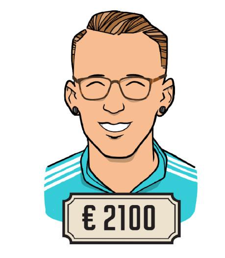 'Toen ik in loondienst kwam, kreeg ik er 250 euro bij'