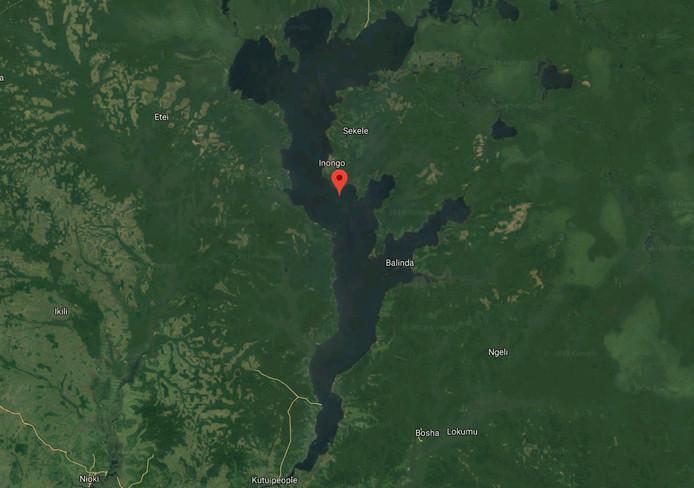 Het Mai-Ndombe-meer in Congo.