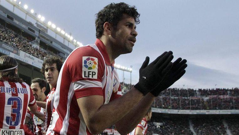 Diego Costa scoort weer eens voor Atlético. Beeld reuters