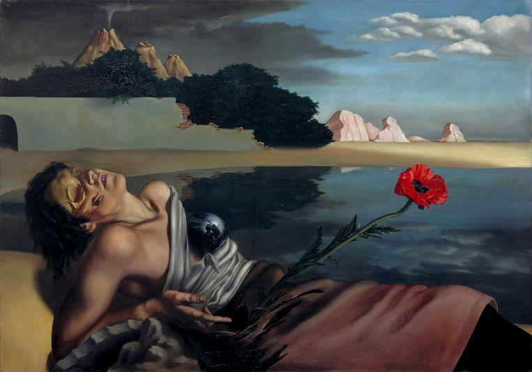 De tranen van Eros: Moesman, Surrealisme en de seksen. Centraal Museum, Utrecht.   Zelfportret, J.H. Moesman, 1935. Beeld Centraal Museum Utrecht / Ernst Moritz
