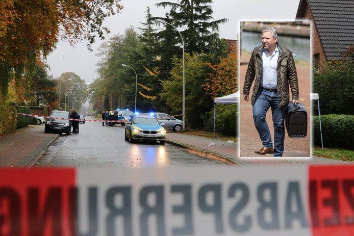 De plaats delict in Gronau (inzet: advocaat Philippe Schol)