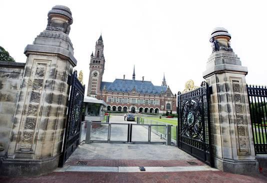 Het Vredespaleis, waar het International Court of Justice is gevestigd. De Hofstad telt talloze VN-tribunalen waar het personeel het salaris in dollars krijgt.