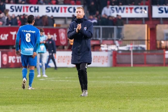 Tegen FC Twente behoorde Mike van Duinen al bij de wedstrijdselectie van PEC Zwolle. Invallen deed de aanvaller toen niet.