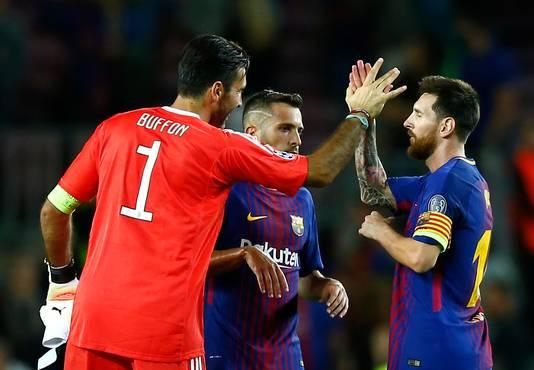 Wederzijds respect tussen Messi en Buffon.