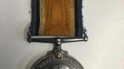 Medaille verloren op Tyne Cot